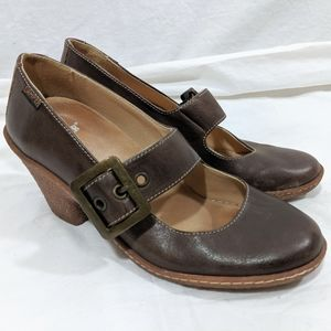 Camper Brown Leather Mary Jane's